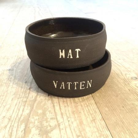 MAT & VATTEN MATSKÅL SVART